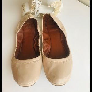 Lucky Brand Leather Emmie Ballet flats in nude